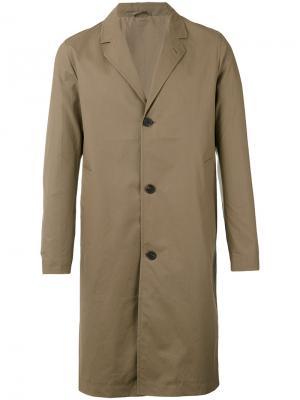 Классическое пальто средней длины Stutterheim. Цвет: коричневый