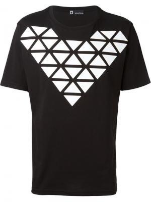 Футболка с геометрическим принтом Giuliano Fujiwara. Цвет: чёрный