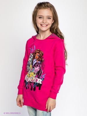 Свитшот Monster High. Цвет: фуксия