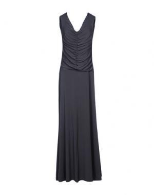 Длинное платье FRANCESCA FERRANTE. Цвет: свинцово-серый