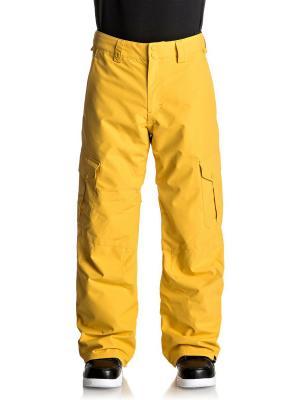 Брюки сноубордические Quiksilver. Цвет: желтый, темно-серый