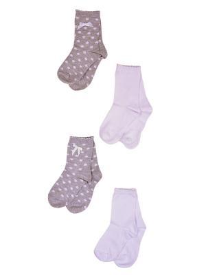 Носки, 4 пары Malerba. Цвет: серый, белый