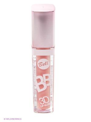 Блеск визуально увеличивающий объем губ BB 3D, тон 3 Bell. Цвет: розовый