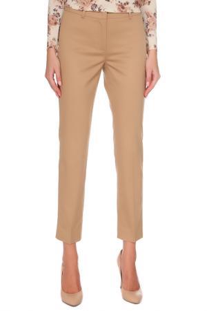 Укороченные брюки с карманами Max Mara. Цвет: бежевый