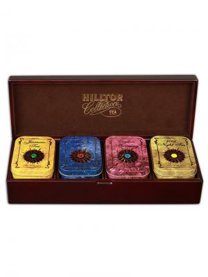 Чай Hilltop шкатулка Звездная коллекция - большая 50 гр.+60 гр.+50 гр.. Цвет: зеленый, коричневый