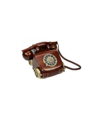 Телефон ретро Русские подарки. Цвет: темно-коричневый
