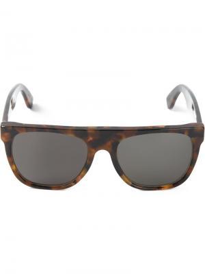 Солнцезащитные очки Flat Top Havana Retrosuperfuture. Цвет: коричневый