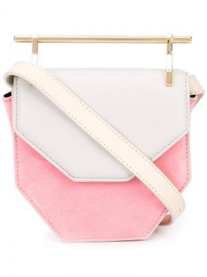 Colour block cross-body bag M2malletier. Цвет: белый