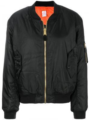 Куртка-бомбер с принтом Yang Li. Цвет: чёрный
