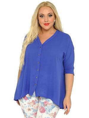 Блузка SVESTA. Цвет: синий