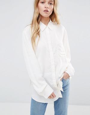 Weekday Рубашка в стиле туники. Цвет: белый