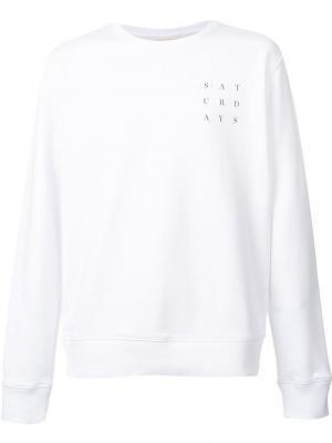 Толстовка с принтом-логотипом Saturdays Surf Nyc. Цвет: белый