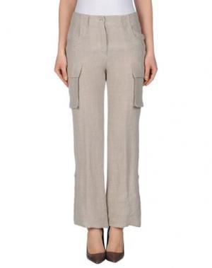Повседневные брюки LIST. Цвет: светло-серый