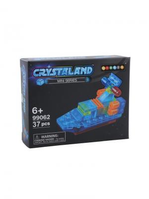 Светящийся конструктор Crystaland Патрульный катер 37 деталей Neocube. Цвет: фиолетовый
