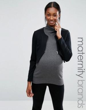 Mama.licious Куртка для беременных Mamalicious. Цвет: черный