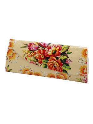 Футляр для очков Цветы 15900-2-С15 Germes. Цвет: светло-бежевый