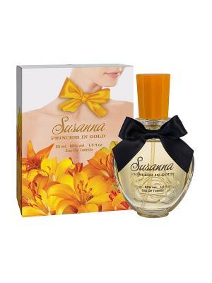 Туалетная вода Susanna Princess in gold (Сусанна принцесса в золоте) жен. 55ml APPLE PARFUMS. Цвет: прозрачный