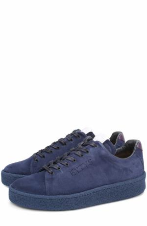 Замшевые кеды Ace на шнуровке Eytys. Цвет: синий