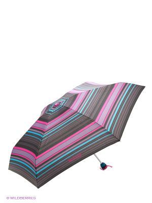 Зонт Isotoner. Цвет: черный, бирюзовый, серый, розовый