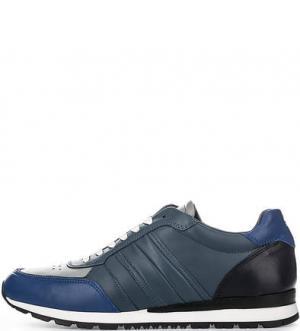 Кожаные кроссовки с вкладной стелькой Tommy Hilfiger. Цвет: синий