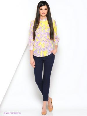 Блуза Ksenia Knyazeva. Цвет: бледно-розовый, желтый