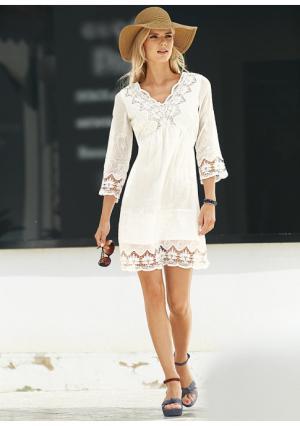 Платье LINEA TESINI by Heine. Цвет: белый