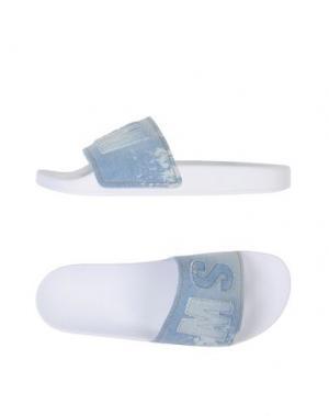 Сандалии MSGM. Цвет: небесно-голубой