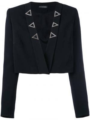 Укороченный пиджак без застежки David Koma. Цвет: чёрный