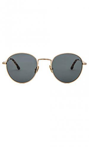 Солнцезащитные очки quincy Steven Alan. Цвет: металлический золотой