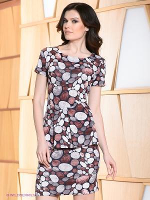 Платье Hammond. Цвет: бордовый, синий