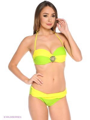 Купальный костюм FIANETA. Цвет: желтый