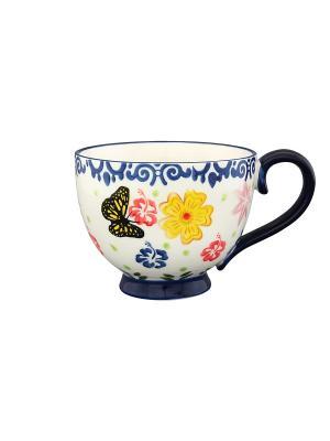 Кружка Бабочки Elan Gallery. Цвет: синий, желтый, белый