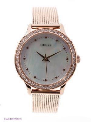 Часы GUESS. Цвет: золотистый, белый, розовый