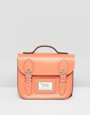 Leather Satchel Company Маленький рюкзак. Цвет: розовый