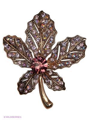 Брошь Royal Diamond. Цвет: фиолетовый