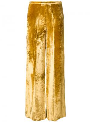 Прямые брюки Forte. Цвет: жёлтый и оранжевый