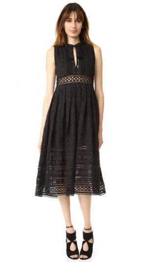 Миди-платье с прорезями Sea. Цвет: голубой
