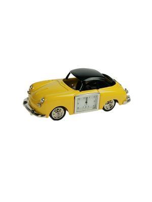 Часы настольные Ретро автомобиль Русские подарки. Цвет: белый, кремовый