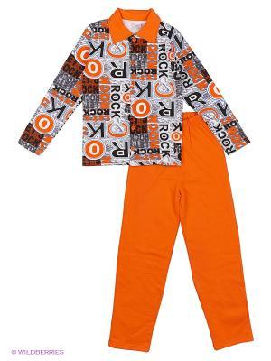 Пижама Bonito kids. Цвет: оранжевый