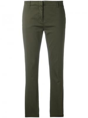 Укороченные брюки Aspesi. Цвет: зелёный