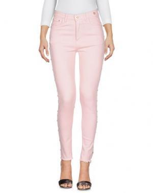 Джинсовые брюки CUPLÉ. Цвет: розовый