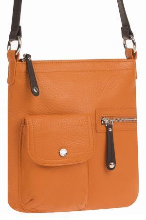 Сумка Palio. Цвет: оранжевый, коричневый