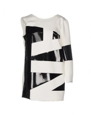 Короткое платье ANTHONY VACCARELLO. Цвет: белый