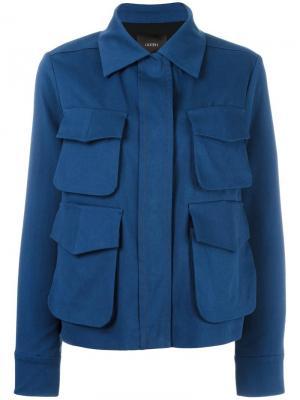 Куртка с накладными карманами Odeeh. Цвет: синий