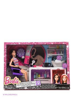 Игровой набор Салон красоты Barbie. Цвет: черный, серебристый, розовый