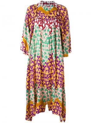 Платье шифт с абстрактным принтом Tsumori Chisato. Цвет: многоцветный