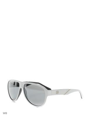 Солнцезащитные очки GU 6753 T57 WHT-3F GUESS. Цвет: белый, черный