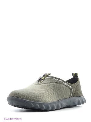 Кроссовки без шнуровки Nexpero. Цвет: хаки