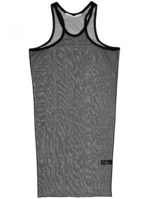 Сетчатое платье Isabel Benenato. Цвет: чёрный