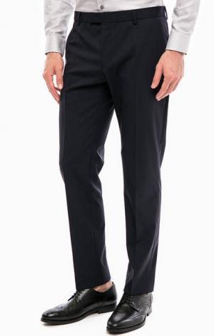 Шерстяные зауженные брюки Strellson. Цвет: синий
